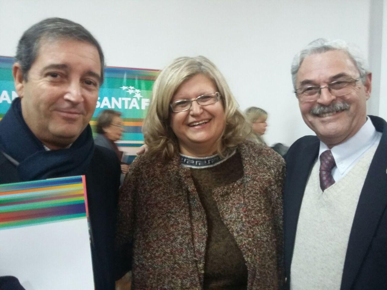 JM y Oscar con la Ministra Balagué